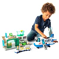 Fat Brain Toys Airport Terminal and Jet Plane Playset Airport Playset