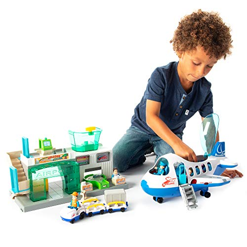 - Fat Brain Toys Airport Terminal and Jet Plane Playset Airport Playset