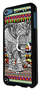 492 - Aztec Elephant Design For apple ipod Touch 5 Fashion Trend CASE Back COVER Plastic&Thin Metal