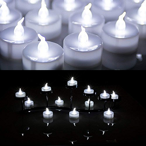 AGPtek® 24 PCS LED Tealights Battery-Operated flameless Can