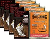Emergency BRW Made In U.S.A. Survival Sleeping Bags - Pack of 4 Bags PLUS Four HeatMax 18 Hour Body Warmers.