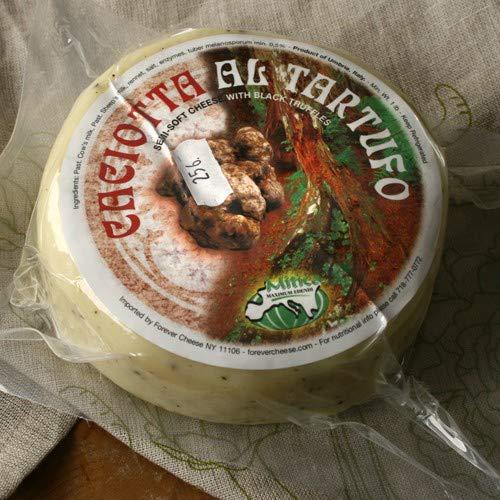 Caciotta Al Tartufo with Black Truffles Cheese (1 lb)