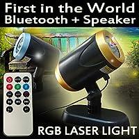 NEOLASERLIGHT - Chrismas lights synchronized with music - Best Wireless Bluetooth Laser Light Speaker, RGB, Gold