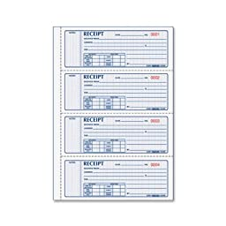 REDIFORM Money Receipt Books Black Print Carbonless, Duplicate, 400 Sets per Book (8L816)