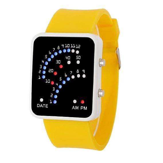 Unisex LED Reloj Deportivo hosamtel mujeres Mens futurista estilo multicolor digital reloj de pulsera: Amazon.es: Relojes