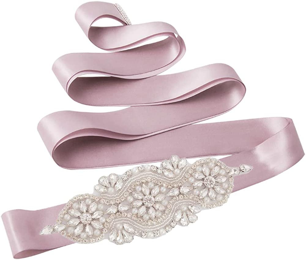 Azaleas Dress Sash Belt Wedding Pearl Belts for Wedding Dress Rhinestones Belt Sliver Belt