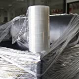 Industrial Strength Mini Hand Stretch Wrap Film 9' -1000ft - 80 Gauge(20 Micron) Clear Cling Commercial Plastic Pallet Supplies Shrink Mini Wrap for Moving Shipping Packing 1 roll