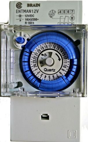 Schema Elettrico Per Temporizzatore : Timer 12v manuale programmabile cavalieri giornaliero 12 volt din
