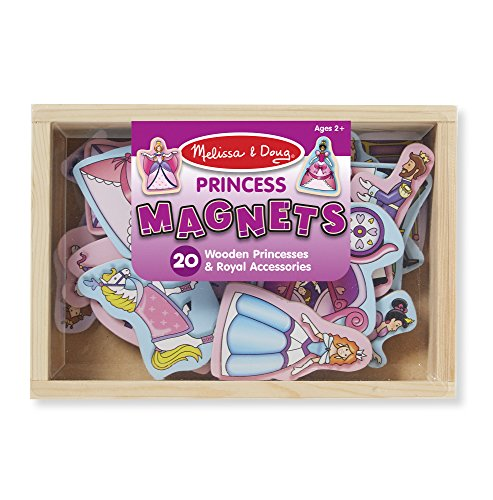 Set Bucket Princess (Melissa & Doug 20 Wooden Princess Magnets in a Box)
