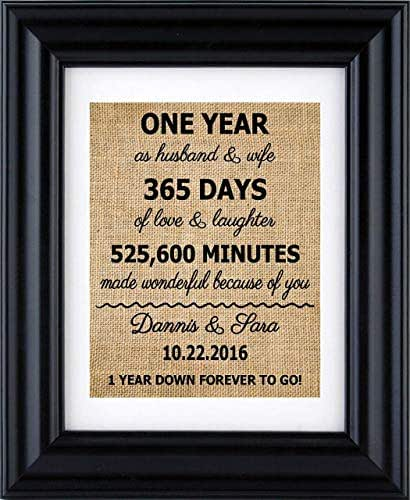 Personalised 1st Wedding Anniversary Gifts: Amazon.com: 1st Anniversary Print, 2nd Anniversary Gifts