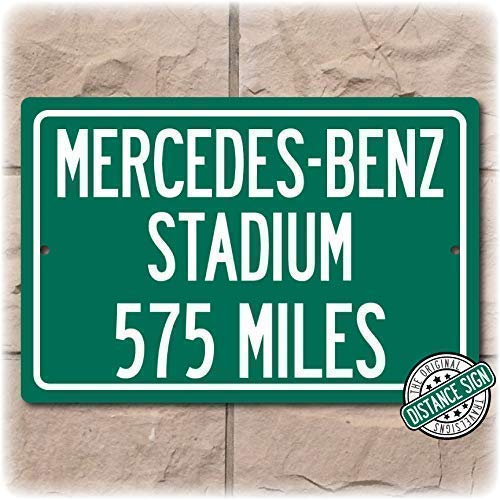 Personalized Highway Distance Sign To: Mercedes-Benz Stadium, New Home of the Atlanta Falcons (Sign Atlanta Highway)
