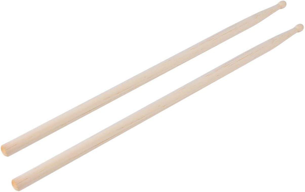 Color: Burlywood HONZIRY 1 par de Baquetas Profesionales de Madera 5A para Tambor Ajuste liviano para Todos los Tambores Adecuado para Rendimiento de bater/ía