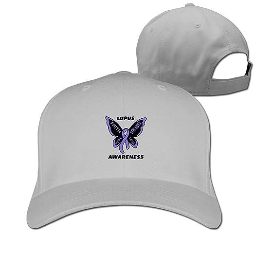 Cool Lupus Awareness Butterfly Baseball Caps Lightweight Hip Hop ... a47f1daf04a