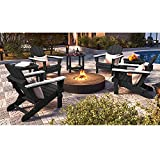 SERWALL Folding Adirondack Chair Patio Chairs Lawn