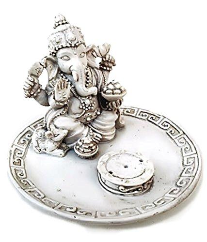 White Beautiful Lord Ganesh Incense Sticks Holder - Ganesha, Laxmi, Shiva, Durga, Kali