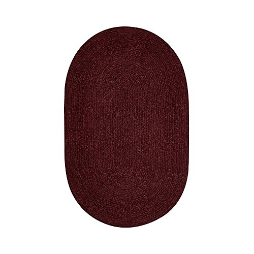 Better Trends/ Pan Overseas BRCR58BU Chenille Reversible Solid Area Rug, 5' x 8', Burgundy