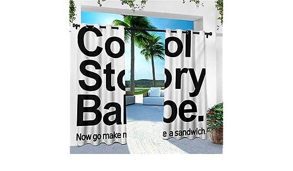 leinuoyi - Cortina para Exteriores, diseño de Nube de Polvo con música y Eslogan, Color Lavanda Coral y Negro: Amazon.es: Jardín