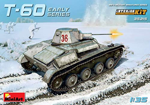 MiniArt 35215 T-60 Early Series - Gorky Automobile Plant Interior Kit, WWII Military Miniatures 1/35 Tank Model Kit