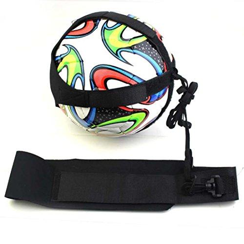 SANNYSIS Football Soccer Kick Trainer Skills Training Aid Equipment Waist Belt 78.74in