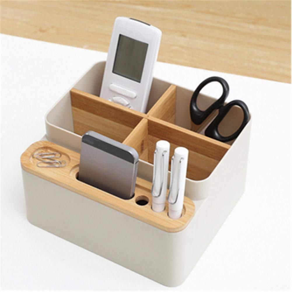 tavolino contenitore di scatole di cancelleria Contenitore per comodino forniture per ufficio penna per telecomando e portamatite Forniture per ufficio di bamb/ù Organizzatore per scrivania