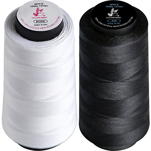 50wt 100% Extra-Long Staple Cotton Thread Spool Full Size Bu