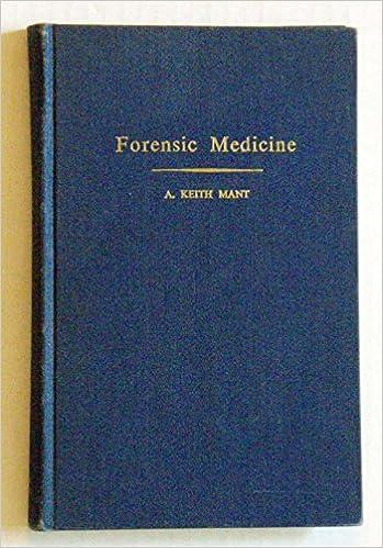 Forensic Medicine Observation And Interpretation Mant A Keith Amazon Com Books