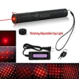 Tactical Green Hunting Rifle Scope Sight Laser Pen Demo Remote Pen Pointer Projector Travel Outdoor Flashlight LED Interactive Baton Funny Laser toy (Red Laser Pen)