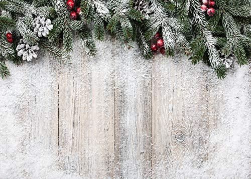 AIIKES 7x5FT Christmas Backdrops for Photography Wood Christmas Photo Background Snowflake Winter Christmas Photography Backdrops Kid Birthday Photo Background Studio Prop 11-703 (Christmas Winter Background)