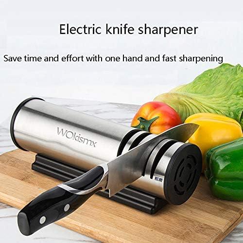 電動ナイフ削りキッチンシャープナイフステンレス鋼速度研削研ぎプロフェッショナル3ステージギフトホームキッチン研磨剤