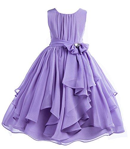 ekidsbridal Yoryu Chiffon Junior Flower Girl Dress Ballroom