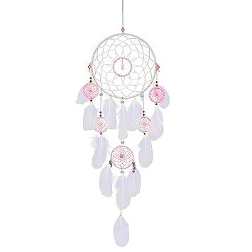 IMMIGOO Gross Traumfänger Handgefertigt Traditionelles 6 Ringe Reifen  Dreamcatcher Indischen Gute Träume Wand Dekoration Haus Zimmer