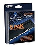 BAKblade 2.0 Refill Cartridges Bundle - Back Hair & Body Shaver Refill Replacement Cartridges. Extra-Wide Wet or Dry Disposable Razor Blades (6 Blades)