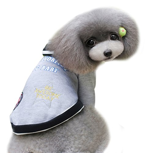 Winter Fall Fashion Lovely Small Puppy Pet Dog Teddy Breathable Cotton Fleece Coat T Shirt Warm Sports Jacket Outerwear Sweater Top Playsuit, Cosplay Costume