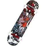 Punisher Skateboards Rose Complete 31-Inch Skateboard with Canadian Maple