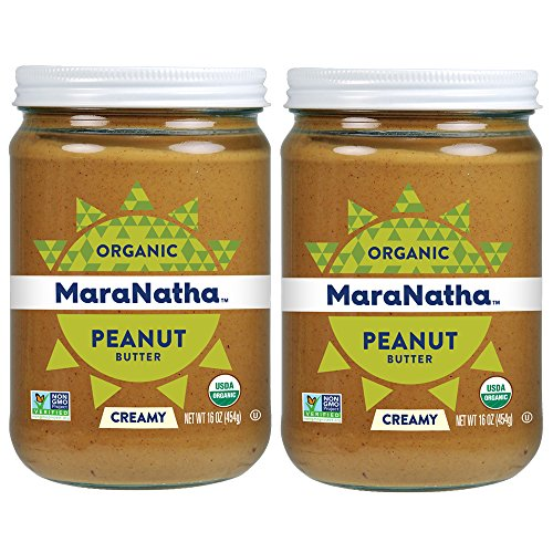 MaraNatha No-Stir Organic Creamy Peanut Butter, 16 Ounce (2 Pack) (Packaging May Vary)