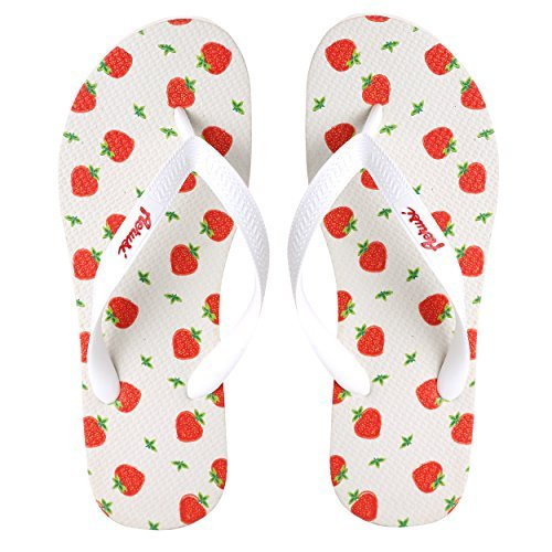 Strawberry Wedge Sandals (Red) - 1