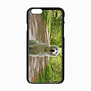 iPhone 6 Black Hardshell Case 4.7inch dog grass trail sit Desin Images Protector Back Cover