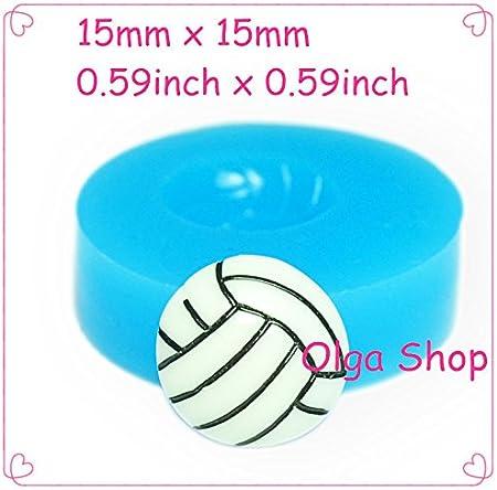 F114 molde Fimo molde silicona balón de voleibol (15 mm): Amazon ...