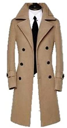af29644347cf0 ボリショーイ)アーバン ファッション スタイル メンズ ウール コート ロング サイズ 100 cm 超え (カーキ