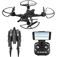 NiGHT LiONS TECH Drone 69508 2.4Ghz 6-Axis Multifunction Foldable Arm Altitude Hold Big remote control RC Quadcopter with HD Camera For Outdoor Fly remote control UFO toy