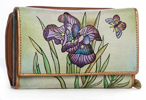 Flower Hand Painted Leather Wallet - 2