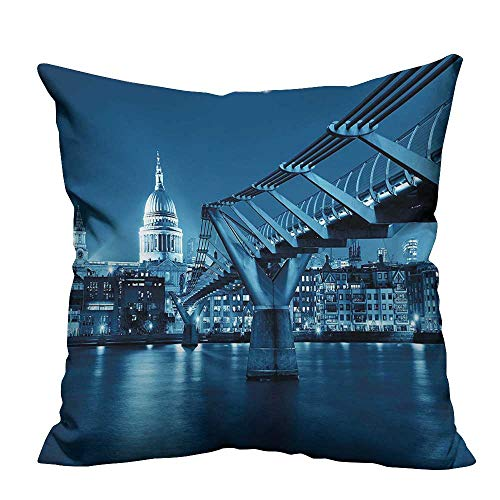 (YouXianHome Print Bed Pillowcases and St Pauls Cathedral at in L ument Town Scenery Dark Blue Washable and Hypoallergenic(Double-Sided Printing) 31.5x31.5 inch)