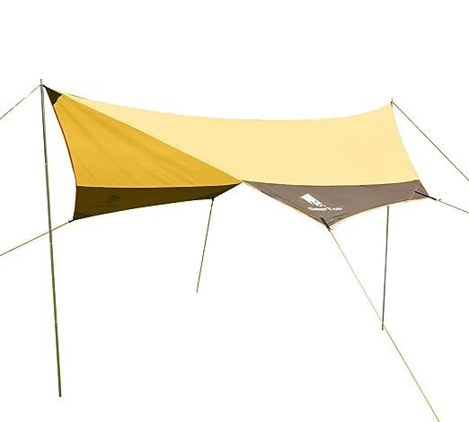 5 opinioni per GEERTOP Tenda da Sole Vele Parasole Telone Resistente Tarp- 440 x 410 cm- 4- 7