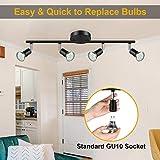 Ascher 4-Light LED Track Lighting Kit, Flexibly