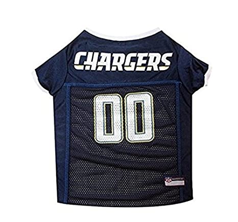3228722a0 Amazon.com   San Diego Chargers Dog Jersey-White Trim- X-Small   Pet ...