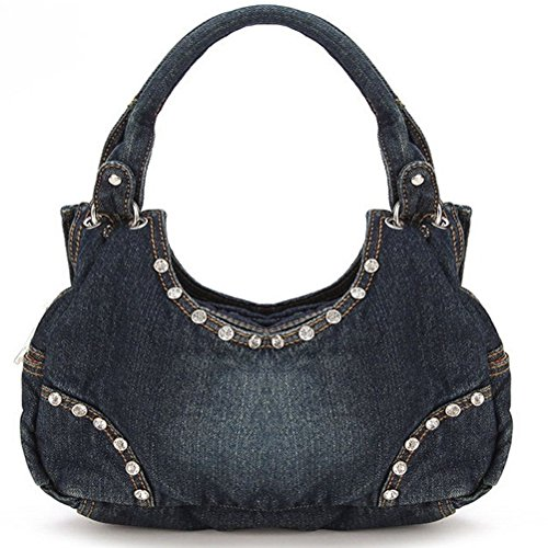 Hobo Handbag Bag Shoulder Denim Tote Travel Denim B Messenger Cute Crossbody Bag Pub Sweet Abuyall Diamonds Jean Style Women tZqw4x6P1