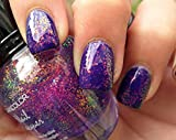 stop chewing nail polish - 1 Set Chunky Holo Purple Nail Polish 3D Holographic Effect Top Glitters Quick Dry Gel Beauty Popular Dryer Kit