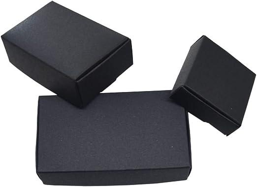 Caja Regalo Bonitas Para 50 Piezas De Papel Kraft Negro Cajas De ...