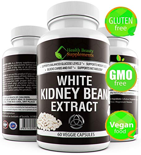 _ Triple Strength White Kidney Bean Extract White Kidney Bean Extract for Weight Loss, Carb Blocker & Cutter, Natural Gluten Free Carb Intercept, Works On Any Diet, from Low Carb Diets to High Sugar