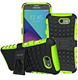 cheap boost mobile phones - Galaxy J7 V Case, Galaxy J7 Prime Case, Galaxy J7 Perx Case, Galaxy J7 Sky Pro / Galaxy Halo Case, OEAGO Samsung Galaxy J7 2017 Case Tough Rugged Dual Layer Protective Case with Kickstand - Green